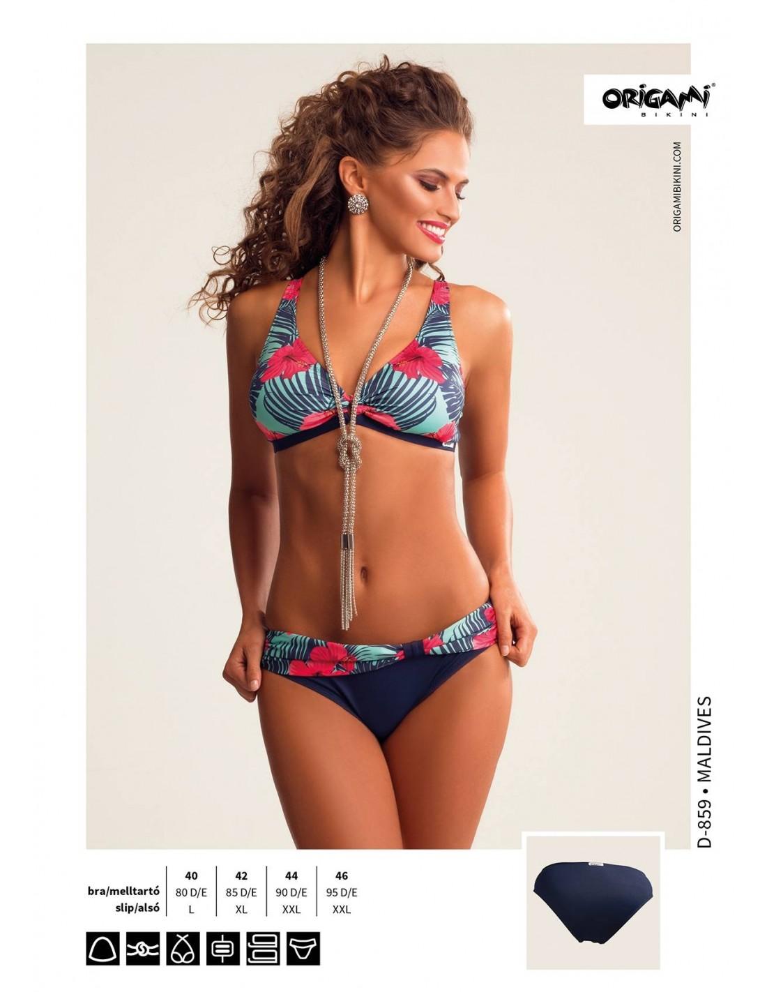 D kosaras kivehető szivacsos háromszöges. Maldives D-859 Origami Bikini e145b97e83