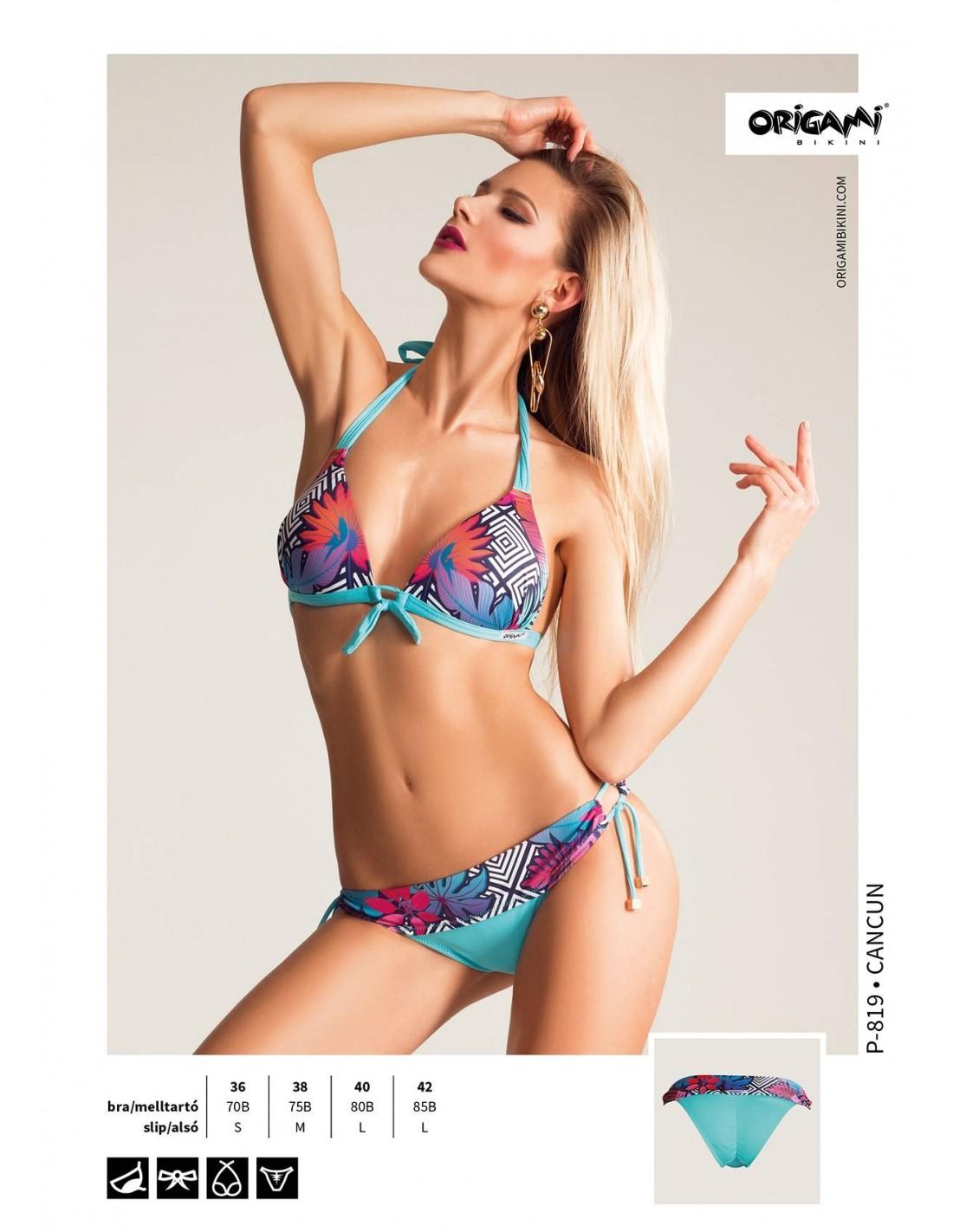Origami Bikini Cancun P-819 Méret 70B   S   36 d1bc339ab4