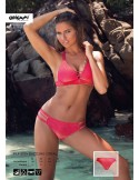 Dazzling Coral PLX-809 Origami Bikini swimwear