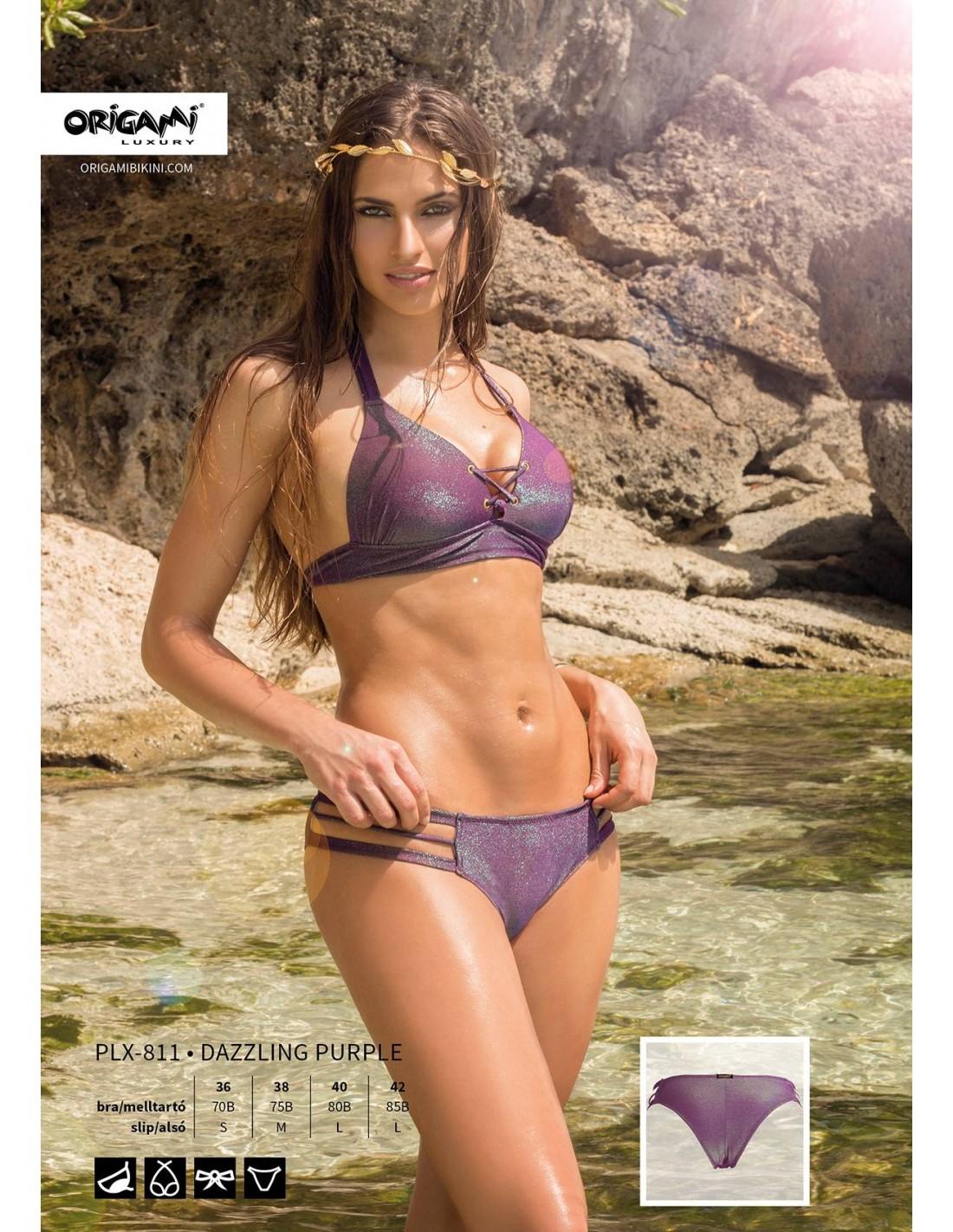 Origami Bikini Dazzling Purple PLX-811 7f70a98ea1