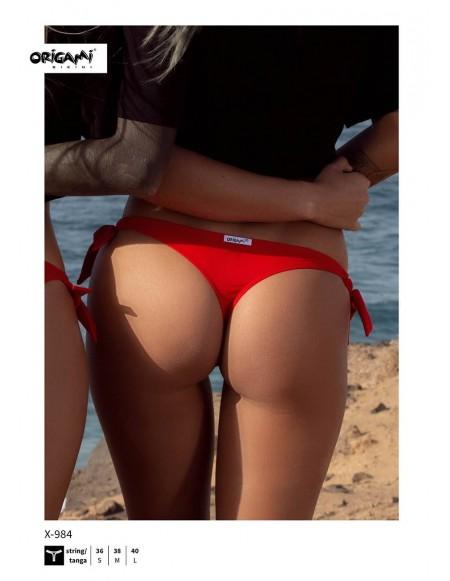 Piros tanga alsó X-984 Origami Bikini