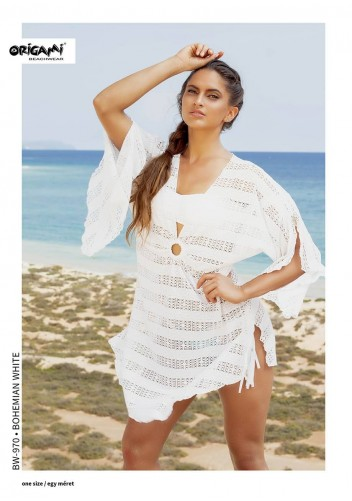 Bohemian White Beachwear BW-970 Origami Bikini
