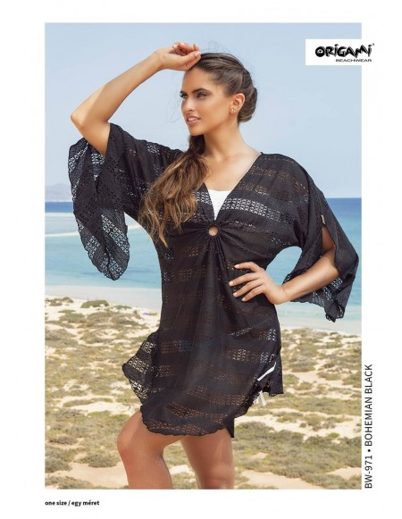 Bohemian Black Beachwear BW-971 Origami Bikini