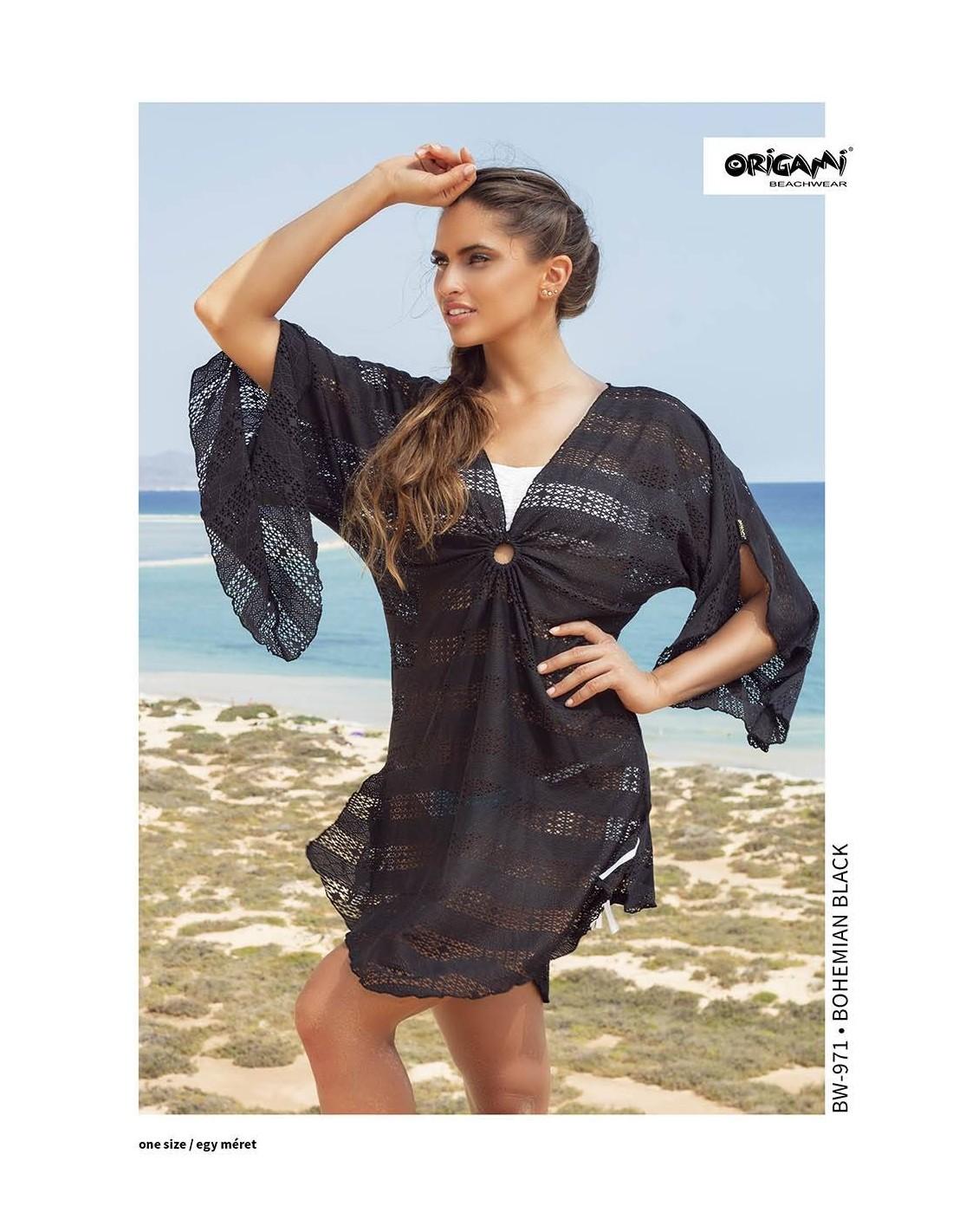 Bohemian Black strandruha BW-971 Origami Bikini Méret Egy méret 16110194b9