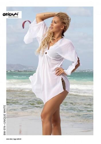 Unique White strandruha BW-974 Origami Bikini