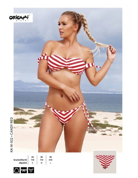 Candy Red KK-M-932 Origami Bikini