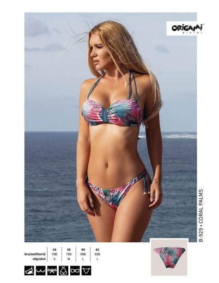 Coral Palms B-929 Origami Bikini