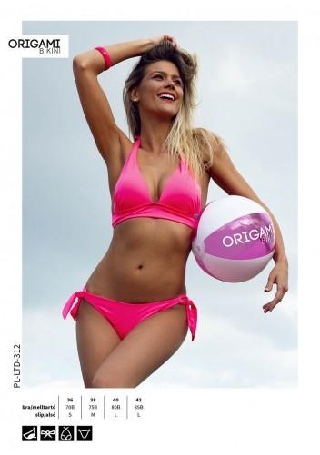 8f5444f577 Limitált kiadás Neon Pink PL-LTD-312 Origami Bikini