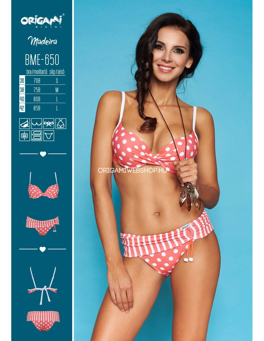 Origami Bikini BME-650 Madeira Méret 70B   S   36 316cc61067