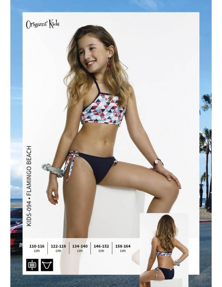 Flamingo Beach Kids-094 Origami Bikini