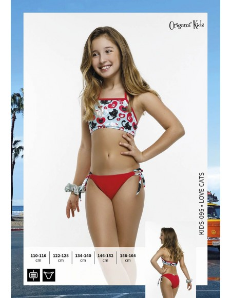 Love Cats Kids-095 Origami Bikini