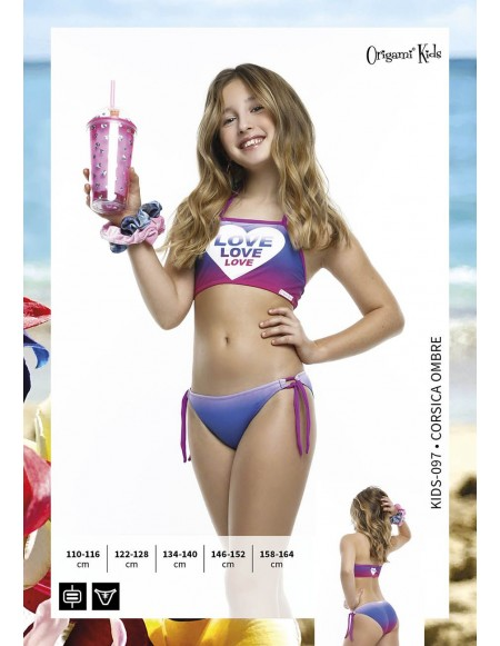 Corsica Ombre Kids-097 Origami Bikini