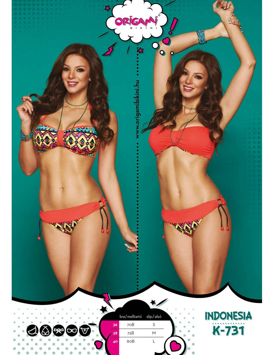 Indonesia K-731 Origami Bikini 943f8cd606