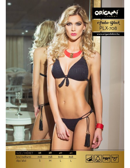 Aruba Black Luxury PLX-708 Origami Bikini
