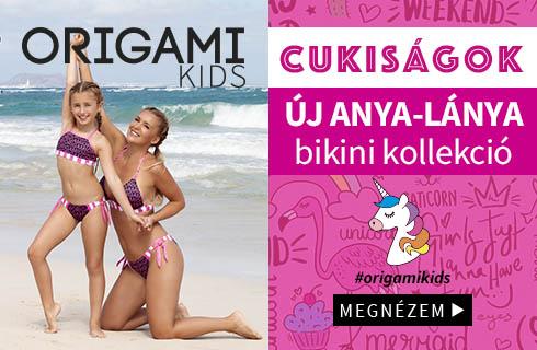 Új anya-lánya origami bikini kollekció 2019