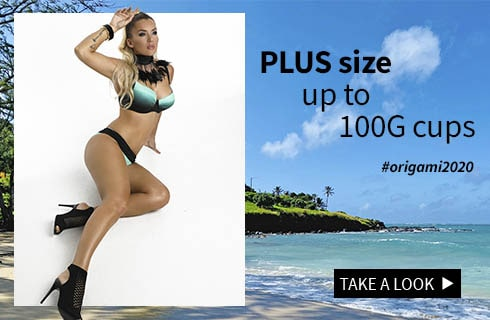 Origami-bikini plus size swimsuits