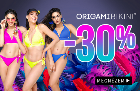 Origami-bikini extra méretetű fürdőruhák